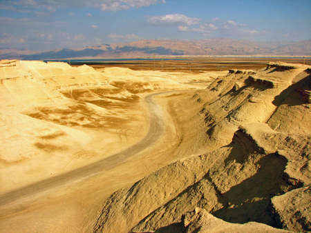 sink hole: The barren wasteland of the ancient cities on the plains Israel.