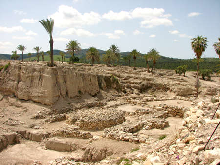 Ancient ruin in Har Megiddo, Israel