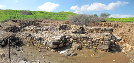 Archeological remains of the ancient city of Kinneret Israel