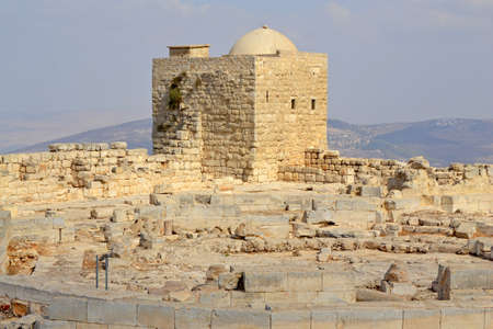 samaritans: Ruins on holy mount Gerizim of Samaritans in Israel territory