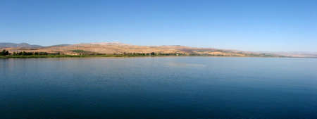the gospels: Panoramic view of the Sea of Galilee in Israel