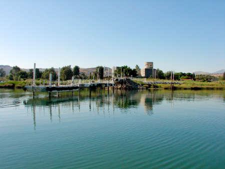 gospels: A Dock on the Sea of Galilee in Israel
