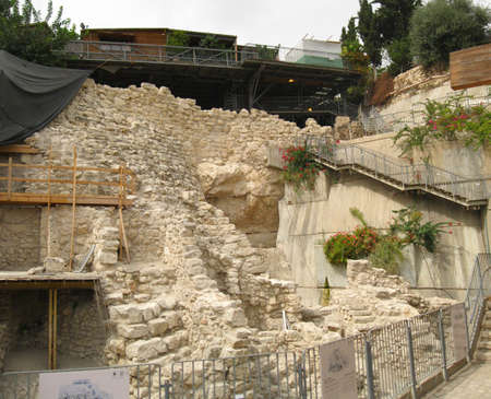 Archeological site in City of David, Jerusalem, Israel