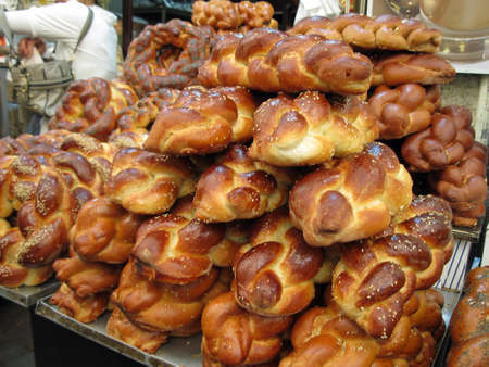 challah: Challah Bread in the Jerusalem Market