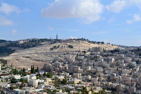 mount of olives: Mount of Olives, Jerusalem Stock Photo
