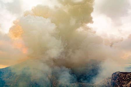 Crater of the Volcano in Masaya, Nicaragua