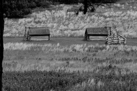 Civil War cabins Stok Fotoğraf