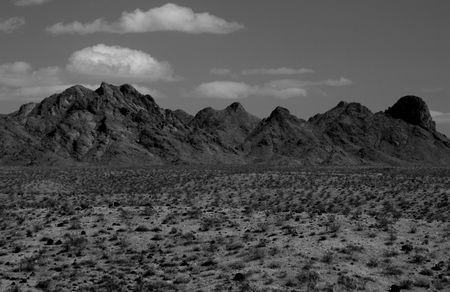 Arizona desert and mountains Stok Fotoğraf