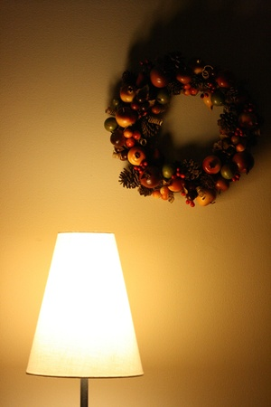 Lamp and wreath Stock Photo - 10222557