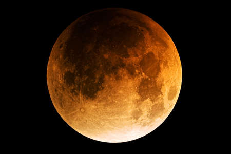 Full moon during lunar eclipse Stock Photo