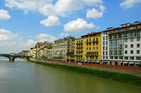 Riverfront buildings Florence, Italy