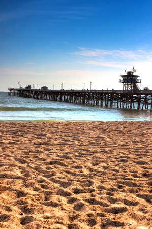 Pier to the Pacific Ocean, San Clemente beach.