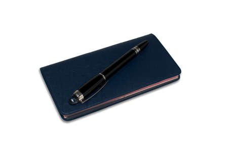 Checkbook with nice black pen Stock Photo