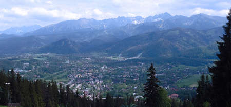 zakopane: Village of Zakopane nestled at the foot of the beautiful Tatra Mountains in southern Poland