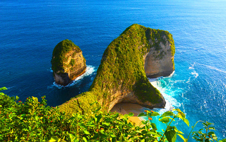 Manta Bay or Kelingking Beach scenery at Nusa Penida Island, Bali, Indonesia Reklamní fotografie