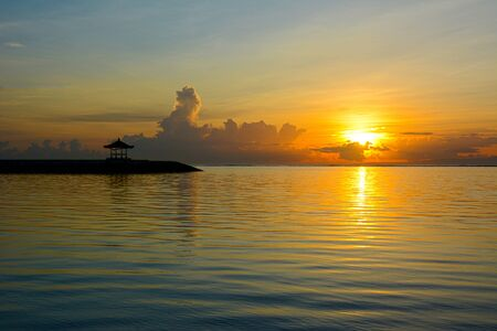 Sunrise view of Pantai Karang, Sanur Beach, Bali, Indonesia, Asia.