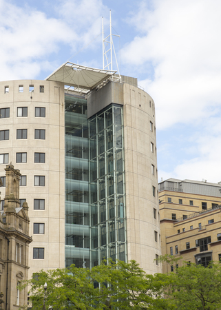 exceptional: Photograph of 1 City Square Office Building in City Square Leeds.  Example of exceptional modern architecture used in modern office building design in the city.