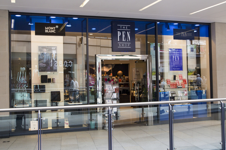 Photograph of the Pen Shop in Leeds, UK.  The Pen shop is a niche retain chain which specialises in the sale of premium pens and other writing instruments.