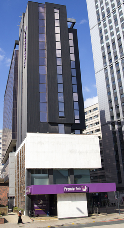 Premier Inn Hotel on Clay Pitt Lane in Leeds City Centre, next to the Leeds Arena