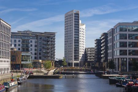 Leeds Dock area by Clarence Dock in Leeds