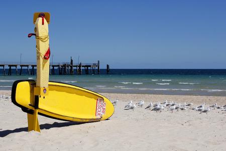 life saving: A surf life saving station on standby on a beach in Australia Stock Photo