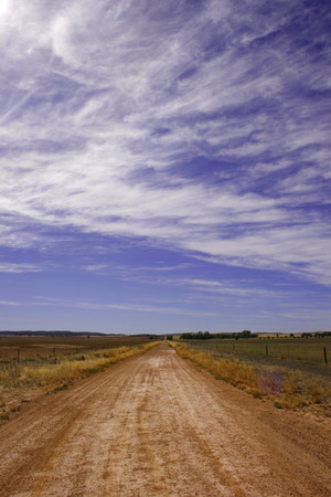 flinders: A dirt road in the desert landscape of the Flinders Ranges, South Australia Stock Photo