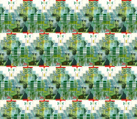 sheqalim: A collage using currency notes of Israel