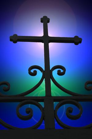 kruzifix: Ein Kruzifix �ber dem Tor zum Himmel