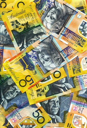 australian dollar notes: Fifty dollar notes of Australian currency