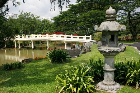 japanes: Japanes style historical bridge within the Singapore Japanese Gardens