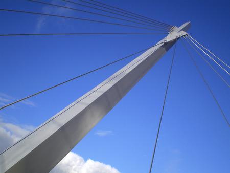 lofty: A steel supporting strut of a bridge Stock Photo