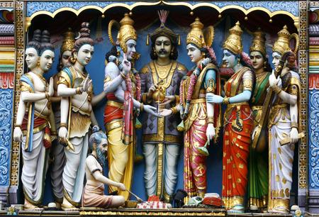representations: Deity representations at the Sri Krishnan temple  Stock Photo