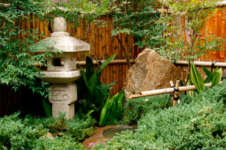 water feature: Water feature in the Himeji Japanese Garden in Adelaide South Australia