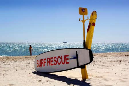 lifesaving: A surf life saving station on standby on a beach in Australia Stock Photo