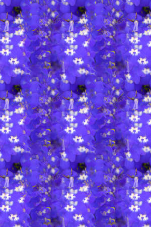 arrange: An abstract of blue flowers in repeat pattern Stock Photo