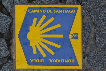bilbao: Sealizacion way streets of Santiago in Bilbao Stock Photo