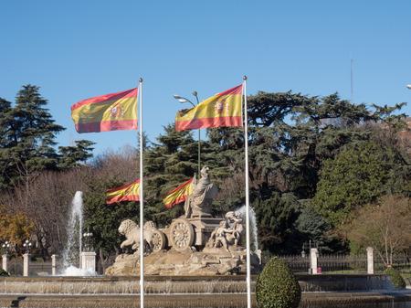cibeles: Fountanin Cibeles historical symbol of Madrid city Stock Photo
