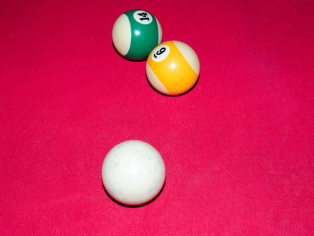 pool halls: Game of american billiards  played on a billiard table for two persons