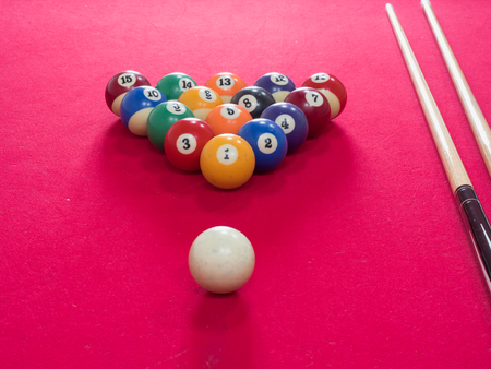 snooker halls: Game of American billiards played on a billiard table for two persons