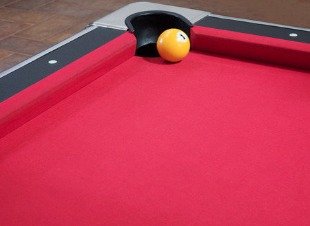 snooker hall: Game of American billiards played on a billiard table for two persons