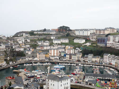 northern spain: Luarca typical holiday town and fishing port in northern Spain