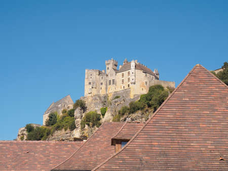 castel: Historic defensive fortress in a village of the Dordogne valley