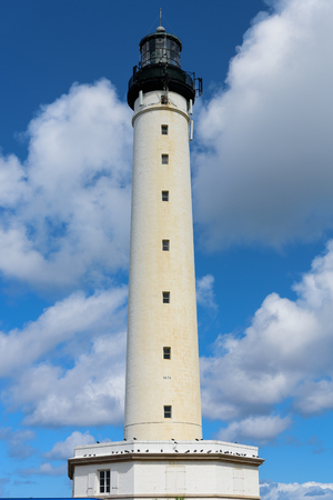 Lighthouse on the French coast of the Atlantic Ocean in the city of Biarritz Stock Photo