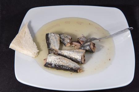 イワシの栄養価の高いオメガ 3 と食事を節約します。 写真素材 - 90444724