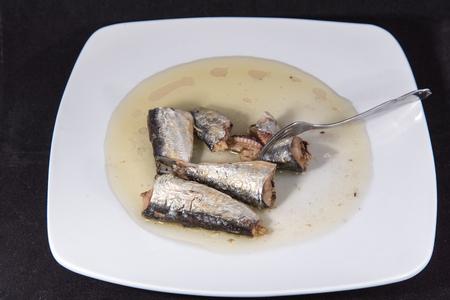 イワシの栄養価の高いオメガ 3 と食事を節約します。 写真素材 - 90444728