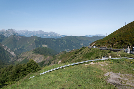 mountain pass in the cordellera cantabrica between the provinces of Leon and Asturias