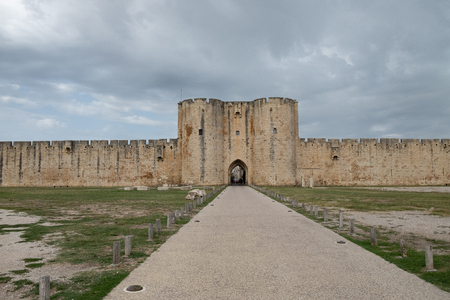 Walls of the 14th century of the city of Aigues Mortes