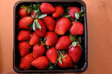 Set of spanish strawberries a fresh and natural dessert