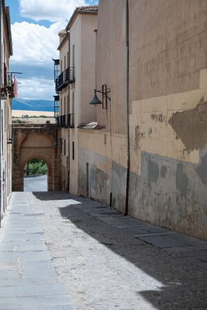 Small street in the city of Segovia in the old Jewish quarter of the city