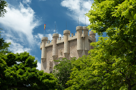 Alcazar of Segovia, tower,  ormer royal residence in the middle ages 報道画像